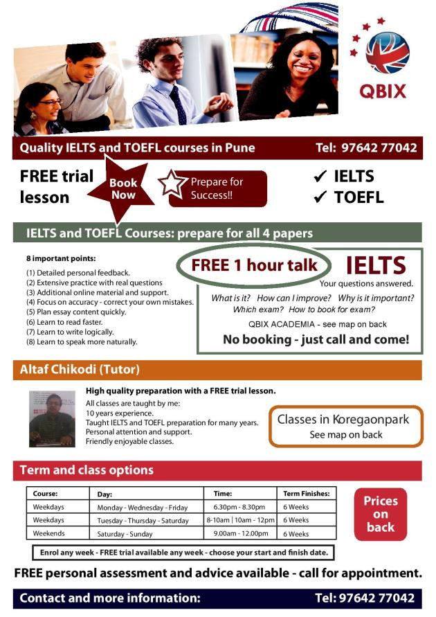 IELTS training course information
